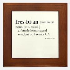 Fresbian definition Framed Tile