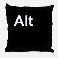 Alt Black Throw Pillow