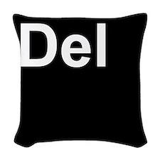 Del Black Woven Throw Pillow