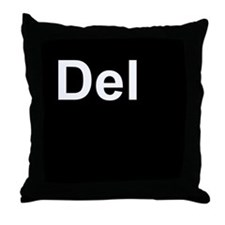 Del Black Throw Pillow