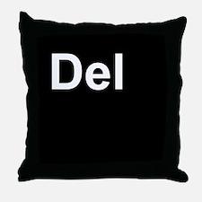 Del Black Throw Pillow