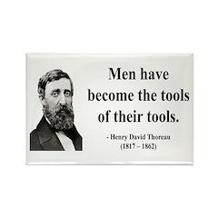 Henry David Thoreau 21 Rectangle Magnet