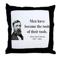 Henry David Thoreau 21 Throw Pillow