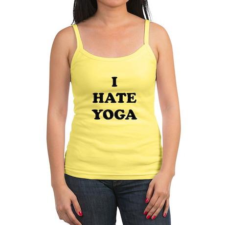 I Hate Yoga - Jr. Spaghetti Tank