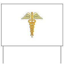 CADUCEUS MEDICAL SYMBOL Yard Sign