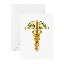 CADUCEUS MEDICAL SYMBOL Greeting Cards