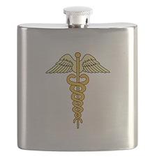 CADUCEUS MEDICAL SYMBOL Flask