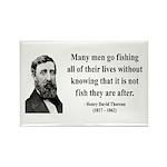 Henry David Thoreau 22 Rectangle Magnet (10 pack)