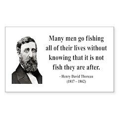 Henry David Thoreau 22 Rectangle Decal