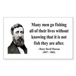 Henry David Thoreau 22 Rectangle Sticker
