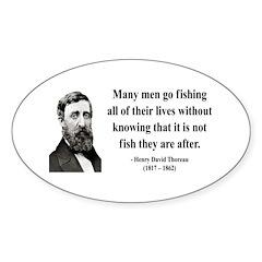 Henry David Thoreau 22 Oval Decal