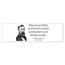 Henry David Thoreau 22 Bumper Bumper Sticker
