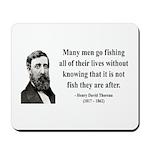 Henry David Thoreau 22 Mousepad