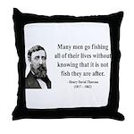 Henry David Thoreau 22 Throw Pillow