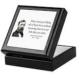Henry David Thoreau 22 Keepsake Box