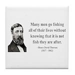 Henry David Thoreau 22 Tile Coaster