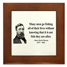 Henry David Thoreau 22 Framed Tile
