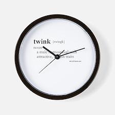 Twink definition Wall Clock