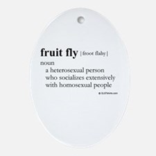 Fruit fly definition Oval Ornament