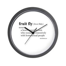 Fruit fly definition Wall Clock