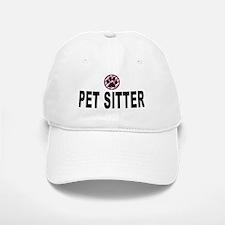 Pet Sitter Pink Stripes Baseball Baseball Cap