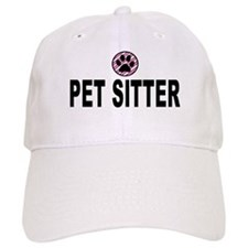 Pet Sitter Pink Stripes Baseball Cap