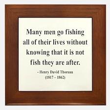 Henry David Thoreau 22 Framed Tile