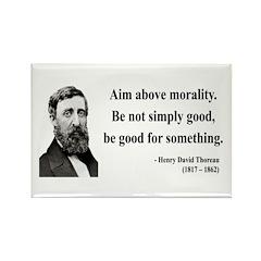 Henry David Thoreau 23 Rectangle Magnet