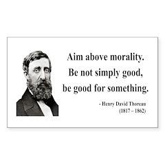 Henry David Thoreau 23 Rectangle Decal
