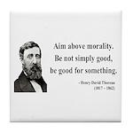Henry David Thoreau 23 Tile Coaster