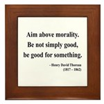 Henry David Thoreau 23 Framed Tile