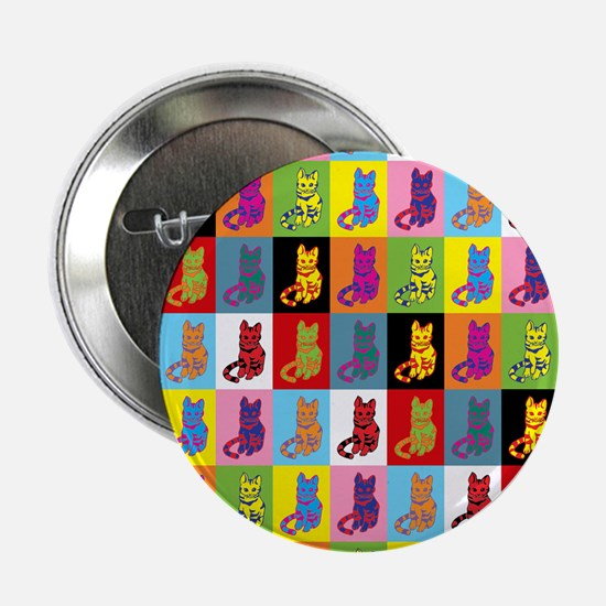 Pop Art Cat Button
