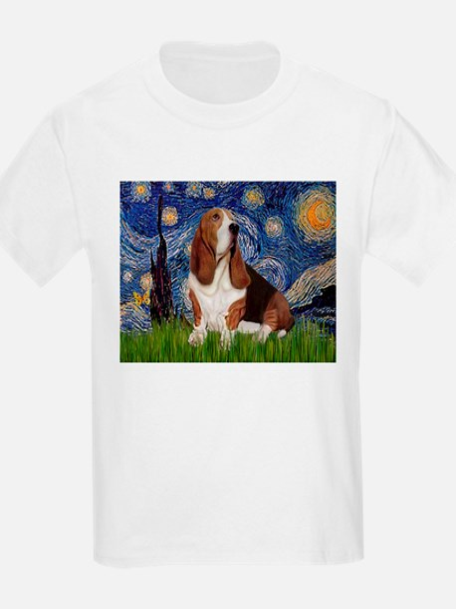 Starry Night Basset T-Shirt