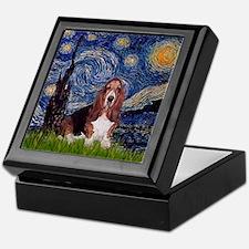 Starry Night Basset Keepsake Box
