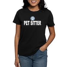 Pet Sitter Blue Circle Paw T-Shirt