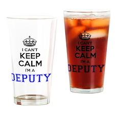 Cute Deputy Drinking Glass