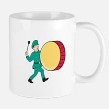Marching Band Drummer Beating Drum Mugs