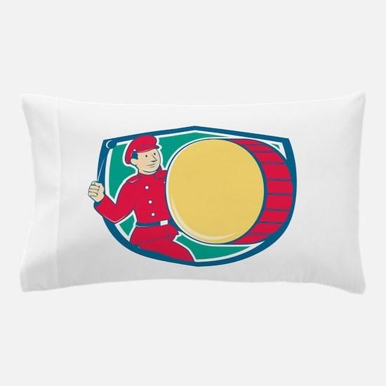 Brass Drum Drummer Marching Shield Pillow Case