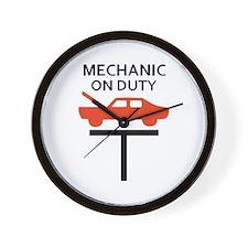 MECHANIC ON DUTY Wall Clock