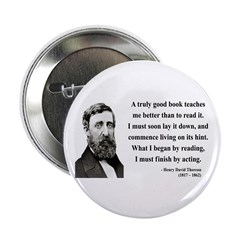 "Henry David Thoreau 24 2.25"" Button"