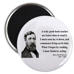 "Henry David Thoreau 24 2.25"" Magnet (10 pack)"