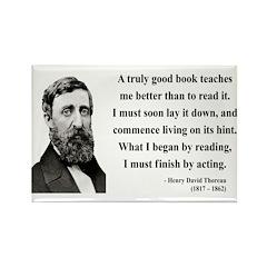 Henry David Thoreau 24 Rectangle Magnet (10 pack)
