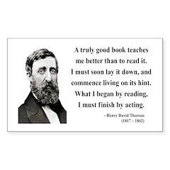 Henry David Thoreau 24 Rectangle Decal
