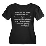 Henry David Thoreau 24 Women's Plus Size Scoop Nec