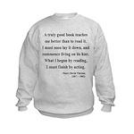 Henry David Thoreau 24 Kids Sweatshirt