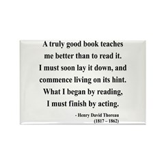 Henry David Thoreau 24 Rectangle Magnet (100 pack)