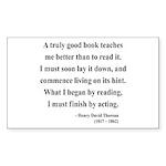 Henry David Thoreau 24 Rectangle Sticker