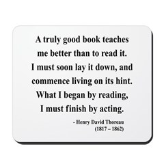 Henry David Thoreau 24 Mousepad