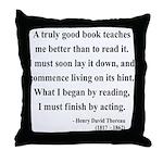 Henry David Thoreau 24 Throw Pillow