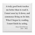 Henry David Thoreau 24 Tile Coaster